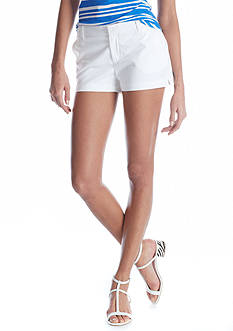 CYNTHIA Cynthia Rowley Solid 4 Pocket Front Zip Short
