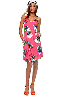 CYNTHIA Cynthia Rowley Printed Fit & Flare Ponte Dress