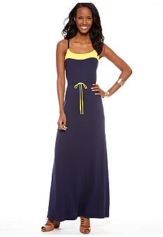 CYNTHIA Cynthia Rowley Color Block Maxi Dress