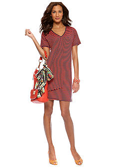CYNTHIA Cynthia Rowley Cascade Stripe Dress