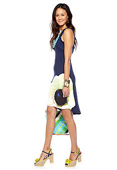 CYNTHIA Cynthia Rowley Printed Hi Low Dress