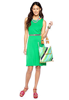 CYNTHIA Cynthia Rowley Cut Out Back Belted Dress