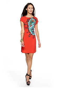 CYNTHIA Cynthia Rowley Cap Sleeve Shift Dress