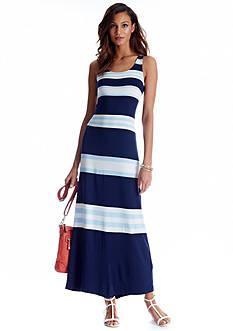 CYNTHIA Cynthia Rowley Sleeveless Stripe Maxi Dress