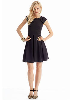 CYNTHIA Cynthia Rowley Everyday Essentials Short Sleeve Fit and Flare Dress