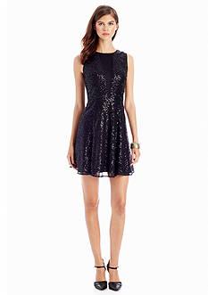 CYNTHIA Cynthia Rowley Allover Sequin Dress