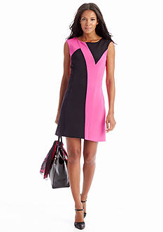 CYNTHIA Cynthia Rowley Sleeveless Colorblock Dress