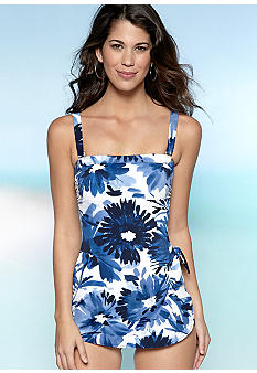 Shapesolver Villa Bandeau Sarong One Piece Swim Suit