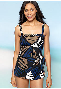Shapesolver Lion Queen Bandeau Sarong One Piece Swim