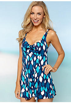 Shapesolver Moon Stone Swim Dress One Piece