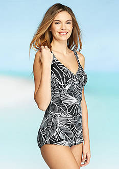 Shapesolver Palm Fan Sarong One Piece