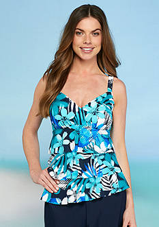 Shapesolver Mesh Well Triple Tier Tankini