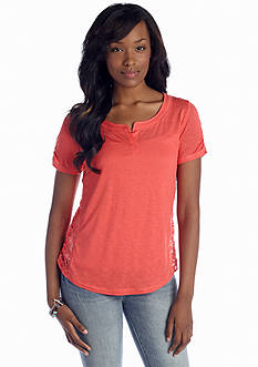 Red Camel® Crochet Back Top