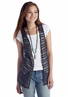 Red Camel® Open Front Crochet Vest Top