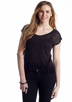 Red Camel® Fringe Hem Boxy Top