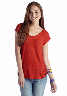 Red Camel® Crochet Side Tee