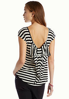 Red Camel® Stripe Bow Back Top