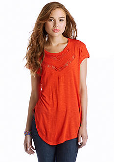 Red Camel® Lace Inset Tee