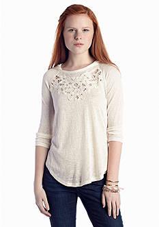 Red Camel® Crochet Hoodie Top