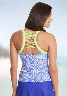 be inspired Surfside Medallion Lattice Back Tankini