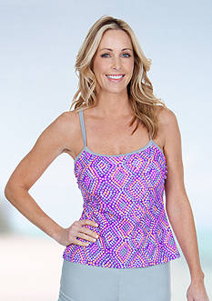Be Inspired Mosaic Scrunch Side Tankini