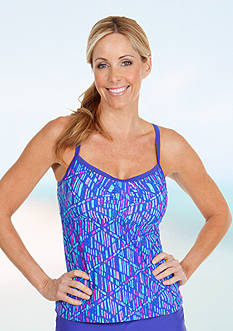 Be Inspired Mosaic Print Cross Back Tankini