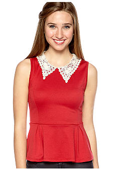 Grass Crochet Collar Peplum