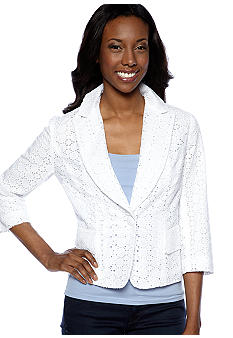Zacharee Eyelet Blazer