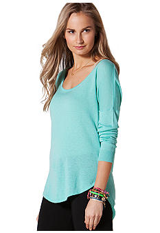C&C California Long Sleeve Dolman Shirt Tail Sweater Knit Top