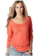 C&C California® Long Sleeve Dolman Shirt Tail Sweater Knit Top