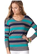 C&C California® Button Back Stripe Knit Top