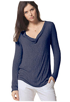 C&C California Long Sleeve Cowlneck Top