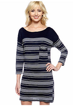 C&C California Stripe Boatneck Dress