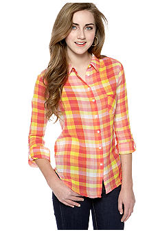 C&C California Checked Plaid Button Down Shirt