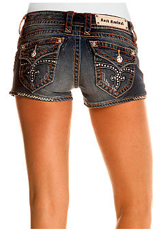 Rock Revival Jen Embellished Flap Pocket Jean Short