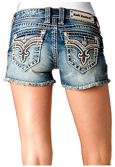 Rock Revival Allegra Frayed Hem Jean Short