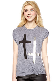 Chord Stud Cross Tee Tunic