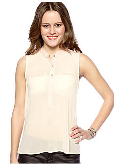 Chord Sleeveless Woven Top