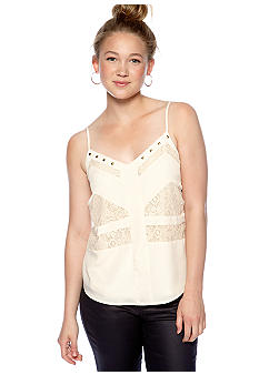 Chord Lace Inset High Low Tank