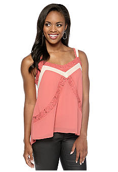 Chord Mixed Media Color Block Tank