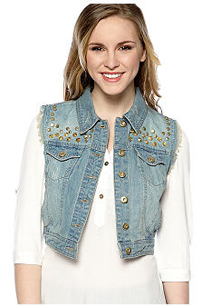 Chord Jean Vest with Studs