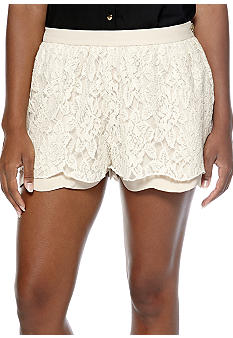 Chord Scalloped Lace Soft Shorts