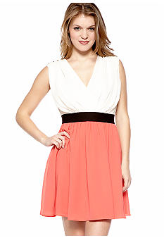 Chord Color Block Dress