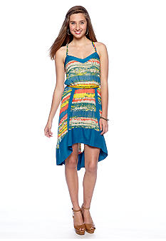 Chord Spaghetti Strap High Low Dress