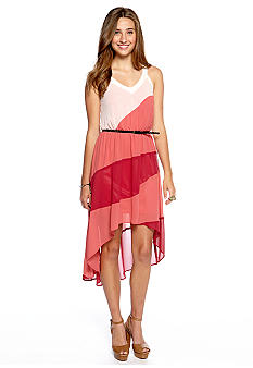 Chord Asymmetrical Color Block Tank Dress