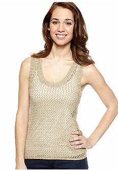 Chord Sleeveless Open Weave Sweater