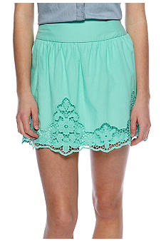 Stoosh Embroidered Hem Skirt
