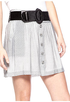 Stoosh Belted Dot Skirt
