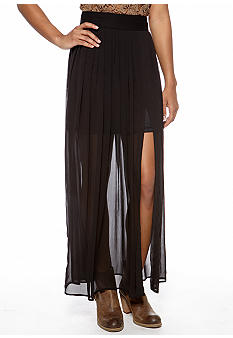 Stoosh Black Zip Maxi Skirt