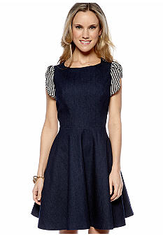 Caitlin Michelle Denim Fit And Flare Dress